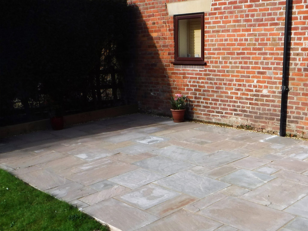 Landscaping in Church Minshull - Patio Area