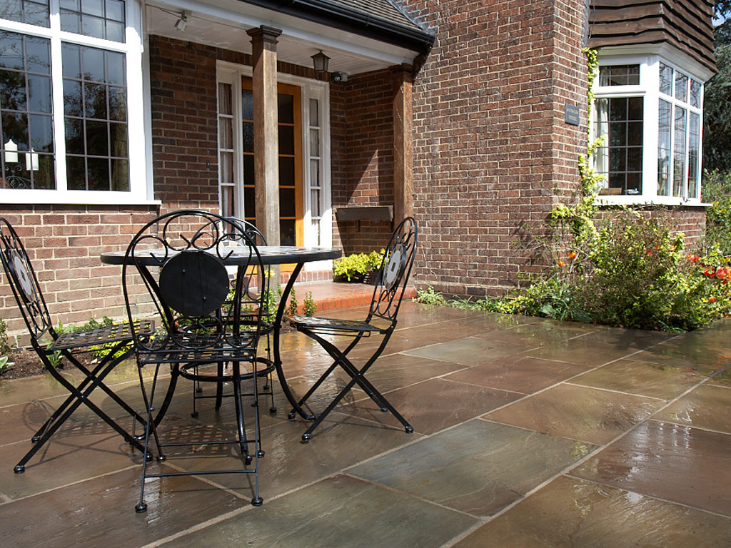 Landscaping in Mottram St Andrew - Indian Stone Patio