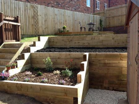 28. Garden Bed & Sleeper Wall