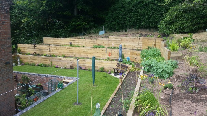 30. Garden Bed & Sleeper Wall
