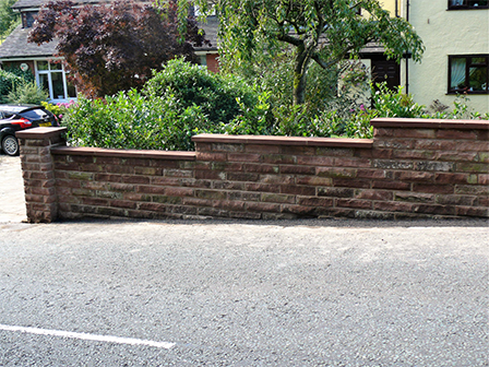 Landscaping in Staffordshire - Brick Wall with Fencing